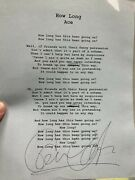 Paul Carrack Ace Signed Lyrics How Long, Squeeze Related