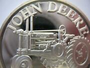 1-oz.john Deere Model G Tractor Fatherand039s Daygift.999 Proof Edt Silver Coin+gold