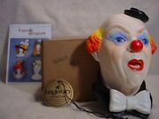 Legends Clown 3 England F Wright Bossons Chalkware Comedy And Circus New Last One