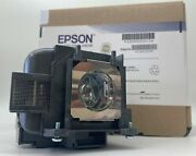 Original Epson Uhe Lamp And Housing For The Epson H709a Projector - 1 Year