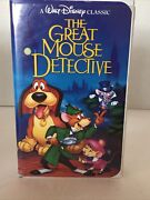 Black Diamond The Great Mouse Detective Walt Disney Home Video Vhs Good Cond