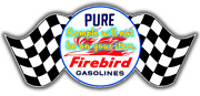 Pure Firebird And039aaand039 Gasoline Contour Cut Vinyl Decals Sign Stickers Motor Oil Gas