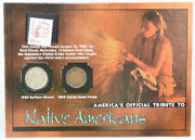 The Franklin Mint Tribute Native Americans 1929 Nickel 1899 Penny And 1987 Stamp