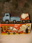 Toy. Ussr Old. Russia. Car. Concrete Mixer. Truck.