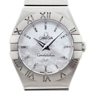 Secondhand Omega Womenand039s Quartz Watches Constellation White Shell 123.10.24
