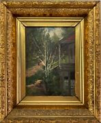 Frank Henry Shapleigh American 1842-1906 Oil On Board Andldquomill In Jackson N.h.andrdquo