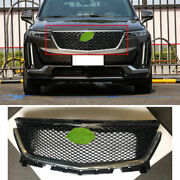 For 2019-2021 Cadillac Xt6 Abs Black Front Honeycomb Grille Grill Cover Trim 1x