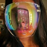 Oversized Full Face Cover Mirror Shield Mask Reflective Shade Glasses Sunglasses