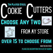 Any Two Tin Plated Steel Cookie Cutters