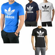 Adidas Menand039s Short-sleeve Trefoil Logo Graphic T-shirt