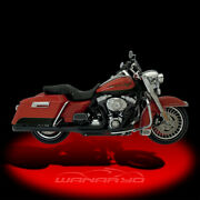 Supertrapp 2-into-1 Supermeg Exhaust Systemblack For 2010-2013 Harley Touring