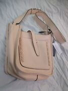 Rebecca Minkoff Leather Adjustable Strap Medium Crossbody Handbag Soft Blush