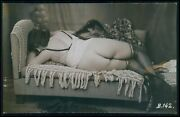 Biederer Butt Rear Pose In Bed French Nude Woman Original C1925 Photo Postcard