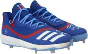 Kris Bryant Chicago Cubs Signed Gu Blue And Red Cleats And Game Used 2019 Insc