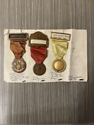 Vintage Lot Military Order Of The Cootie Medal 2 X 1946 And 1950