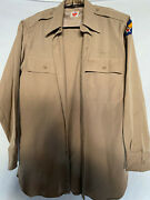 Vintage Wwii Us Military Wool Shirt Uniform Patches Army