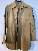 Vintage Wwii Us Military Wool Shirt Uniform Patches Army Air Forces Mechanic