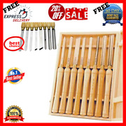 Wood Lathe Tools 8pc Hss Chisel Set For Woodworking Turning Tool Chuck Chisels
