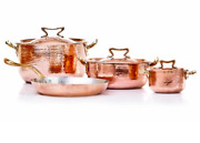 Amoretti Brothers Luxury Copper Cookware 7-pcs Set W Standard Lid