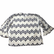 New Nwt Vineyard Vines Shirt Blouse Eyelet Lace Womenand039s Small White Black Flower