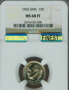 1965 1966 1967 Roosevelt Dimes Ngc Ms68 Ft Sms Mac Finest Mac Spotless 3 Coins .