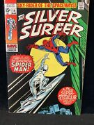 Silver Surfer 14 - Classic Spider-man Battle Cover 1970 Higher Grade Beauty