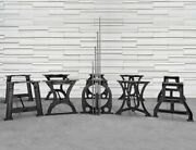 Industrial Cast Iron Table Base Collection - - Multiple Size Available