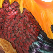Simulation Resin Rooster Statue Chicken Shape Garden Outdoor Ornament Craft Gif.