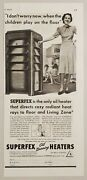 1939 Print Ad Suprefex Oil Burning Heater Family Perfection Stove Cleveland,ohio