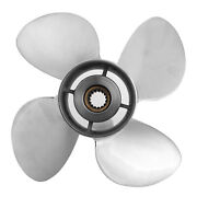 4 Blades Marine Outboard Propeller Replacement Stainless Steel 15t Spline Tooth