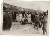 Wwi French Medical Aid Station Trenches Champagne France M. Rol Original Photo