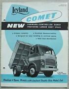 Leyland Comet Haulage Tipper Truck Commercial Sales Brochure Sept 1954 711a