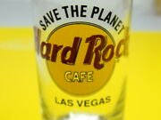 Hard Rock Cafe Las Vegas Save The Planet Tall Shot Glass Black Letters 4