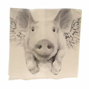 Home Decor Flying Pig Tea Towel Fabric Kitchen Cincinnati Dishes Tt Flying Pig