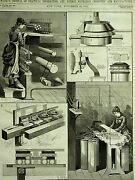Boston Machines New England Institute Novelty Fair 1882 Print Matte W Full Story