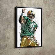 Brett Favre Poster Green Bay Packers Football Painting Hand Made Posters
