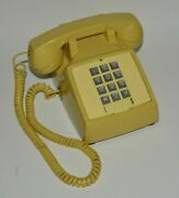 Nice Vintage Yellow Bell Systems Push Button Working Telephone Phone Rare Minty