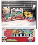 New Cocomelon Jj Doll, Watermelon Dr Kit, Musical Bus And Cocomelon Keyboard Combo