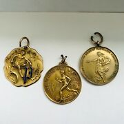 Antique Max Bohland American Athleate Athletic Track 10k Gold Award Medals