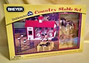 Breyer Stablemates Country Stable Set New 2010 Horses Fence 9979197 132 Scale