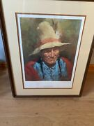 Howard Terpning Signed And Numbered Old Man Of Blackfoot Print And Free Shipping