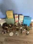 Huge 23 Pc Lot Norman Rockwell Gorham/signed Limited Edition Figurines