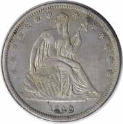 1840 Liberty Seated Silver Half Dollar Small Letters Ef Uncertified 1218