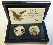 2012 American Eagle Two-coin Silver Proof Set Us Mint Ogp San Francisco - Bp873