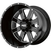 4- 20x10 Black Moto Metal Mo962 6x5.5 -24 Rims 305/55/20 Tires