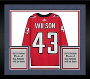 Framed Tom Wilson Washington Capitals Autographed Red Adidas Authentic Jersey