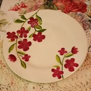 Garden Bouquet By Home Studio 9andrdquo Luncheon/salad Plate One With Red Raised Flower