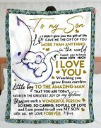 To My Son Love Forever From Mom Elephants Blanket Happy Fathers Day 2021 Blanket
