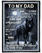 To My Dad Fleece Blanket Happy Fathers Day 2021 Blanket Gift For Dad