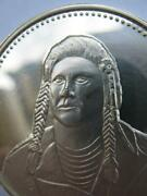1.oz Chief Joseph Nez Perce Native Indian Tribal Nations .925 Silver Coin+gold